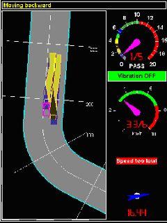 Bild 13:17 Exempel på vältförarens bildskärm