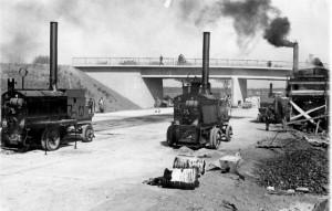 Gjutasfalttillverkning omkring 1950